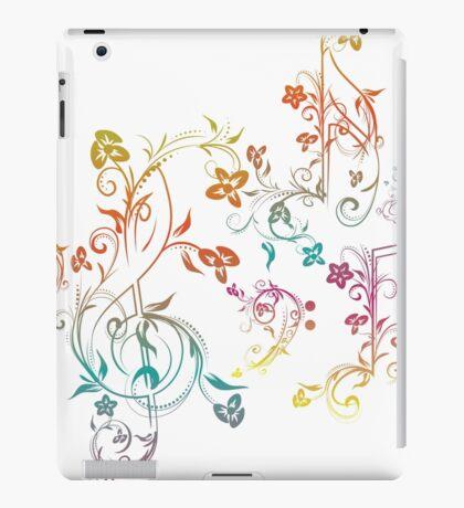 Blumenmusiknoten 2 iPad-Hülle & Klebefolie