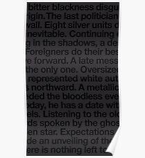 bitter blackness Poster