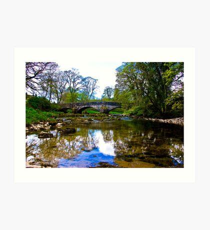 Stone Bridge - River Skirfare. Art Print