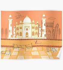 Agra Taj Mahal - Postcard From India Poster