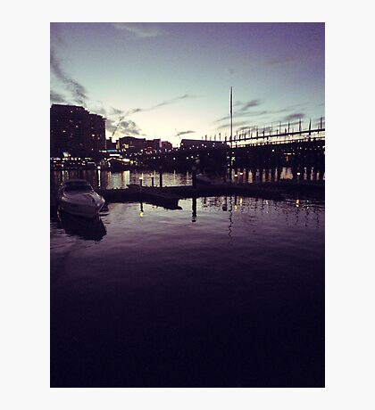 Night at the harbour Photographic Print