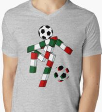 A Casual Classic iconic Italia 90 inspired t-shirt design  Men's V-Neck T-Shirt