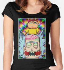Evil Morty Retro Fitted Scoop T-Shirt