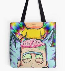 Evil Morty Retro Tote Bag