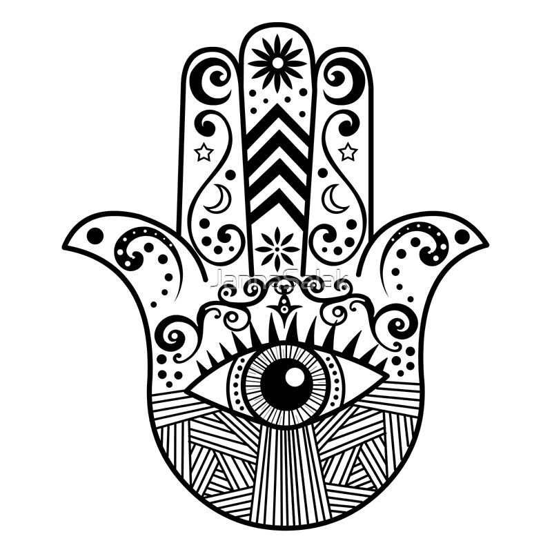 Quot Hamsa Hand Quot Posters By Jannasalak Redbubble