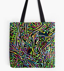 Neon Worm Tote Bag