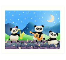 Panda Band Art Print