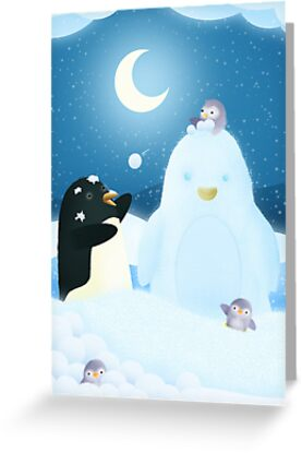 Snow Penguin by Hannah Chapman