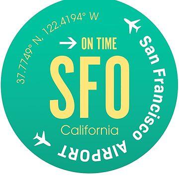 Airport SFO green by Aviators