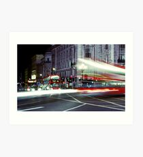 London Night Bus Art Print