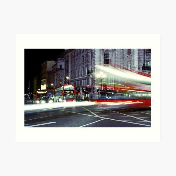 London Night Bus Art Print