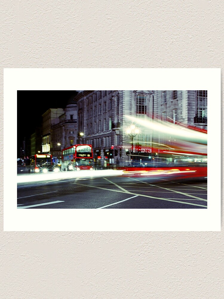 Alternate view of London Night Bus Art Print