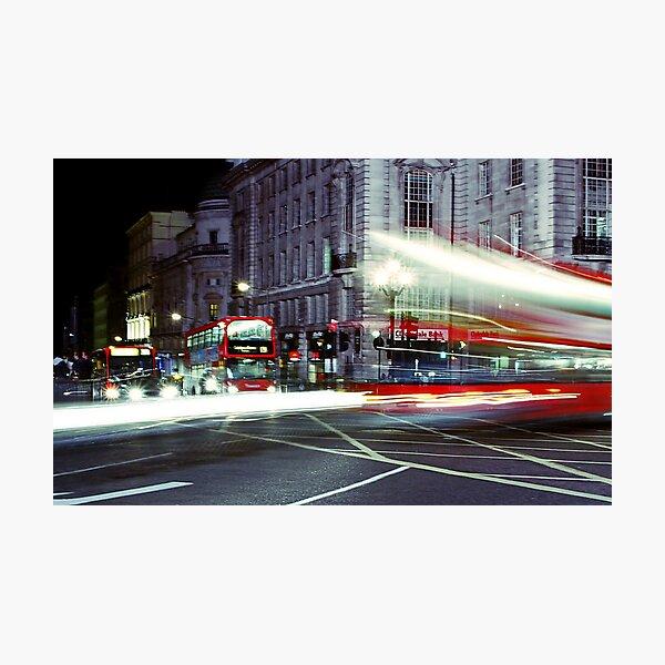 London Night Bus Photographic Print