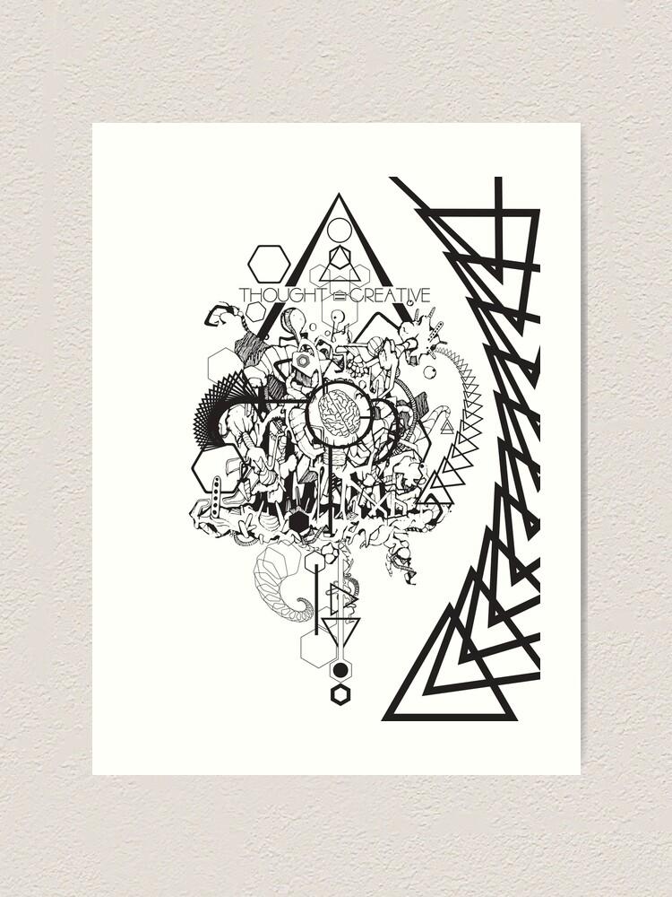 Alternative Ansicht von Thought is creative Kunstdruck