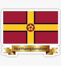 Northamptonshire Named Flag Gifts Sticker