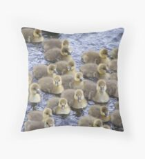 Baby greylag geese Throw Pillow