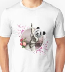 SWINGING PANDA Unisex T-Shirt