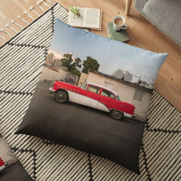 Neat vintage car in Cienfuegos, Cuba. Floor Pillow