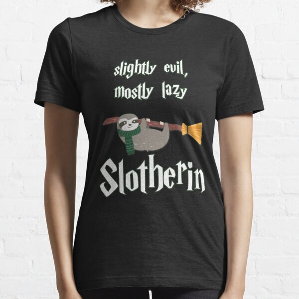 Slotherin- Slightly Evil, Mostly Lazy Essential T-Shirt