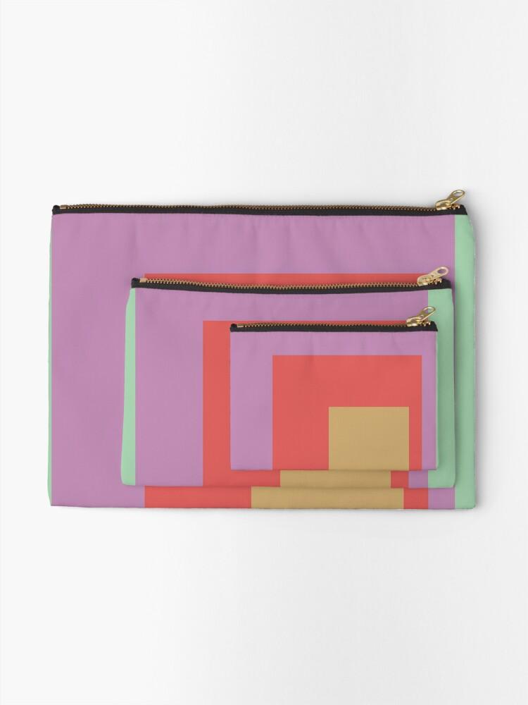 Alternate view of Color Ensemble No. 4 Zipper Pouch