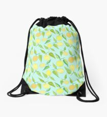 Lemon Twist Drawstring Bag