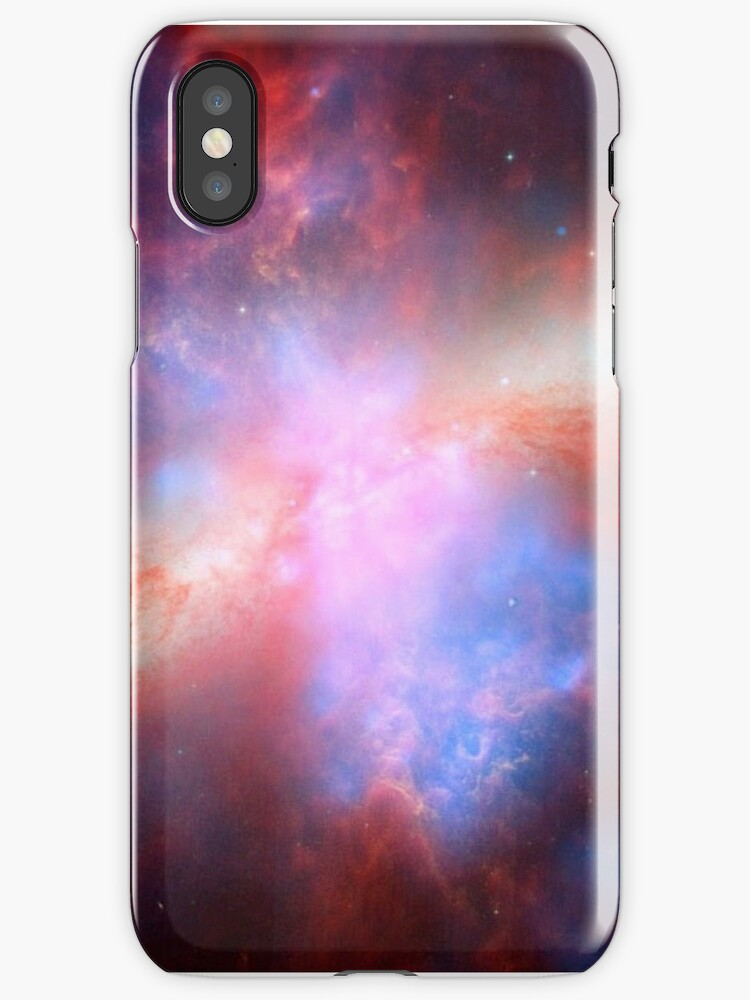 Galaxy and stars space nebula photograph hipster blue and pink print by iGalaxy