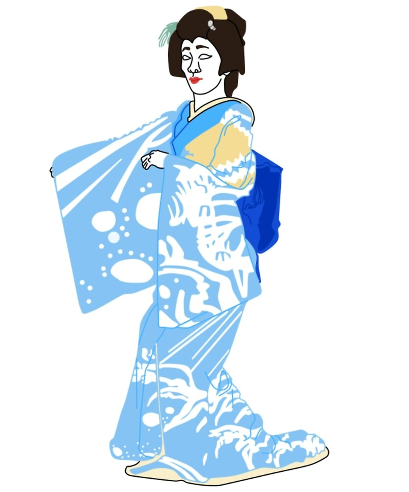 Rabbit in the Moon Kimono Motif by KHRArts