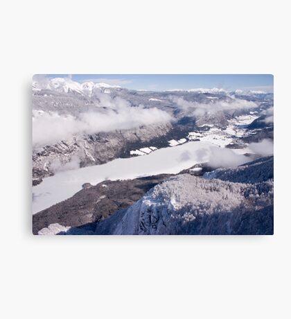 Frozen alpine lake Canvas Print