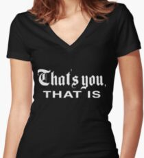 That's You, That is - History Today Fitted V-Neck T-Shirt