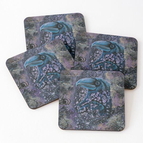 Raven Coasters (Set of 4)