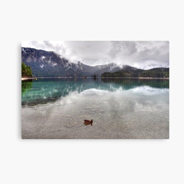HDR: Lake Eibsee Germany Metal Print
