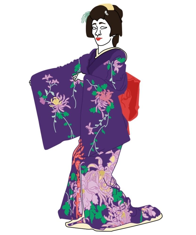 Chrysanthemums Kimono Motif by KHRArts