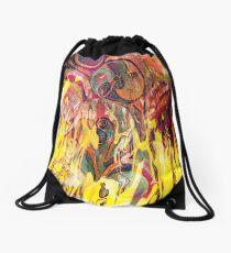 revealing fire abstract art Drawstring Bag