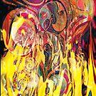 revealing fire abstract art by BBS ART