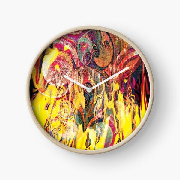 revealing fire abstract art Clock