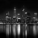 Night fall: Perth city, WA by Lydia Griffiths