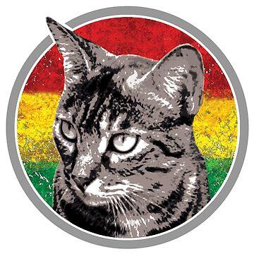 Reggae Katze von Periartwork