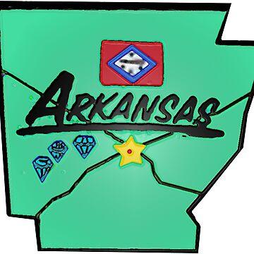 Arkansas touristische Karte von Havocgirl