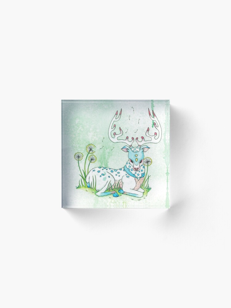 Alternate view of Pastel Reindeer Acrylic Block