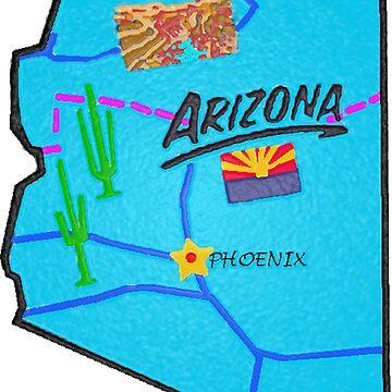 Arizona Touristenkarte von Havocgirl