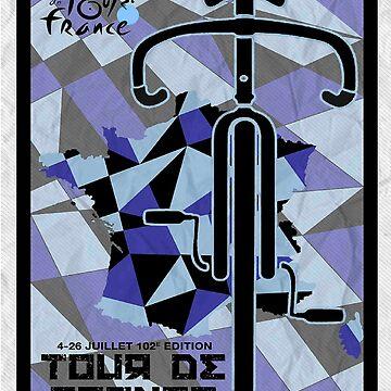 TOUR DE FRANCE ; Vintage Bike Race Print by posterbobs