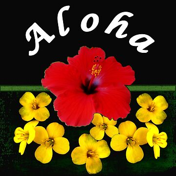 Aloha Red Hibiscus Hawaiian  by RiffXS