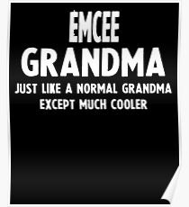 Póster Gifts For Emcee Grandma