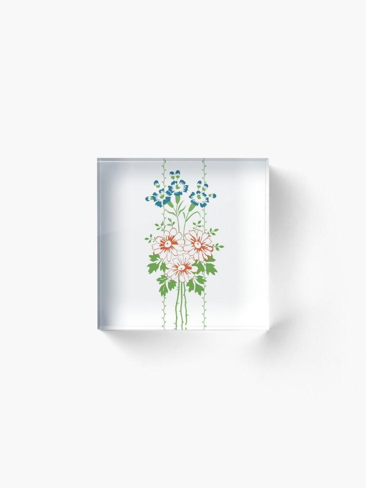 Alternative Ansicht von Baroque Wallpaper Blumenbouquet... Acrylblock