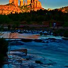 Sunset at Red Rock Crossing  by LudaNayvelt