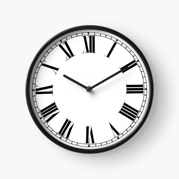 Noir et Blanc - Chiffres Romains Horloge