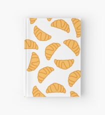 Croissant seamless pattern Hardcover Journal