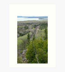 Over look at Kama Mountain - Nipigon bay, Ontario Canada Art Print