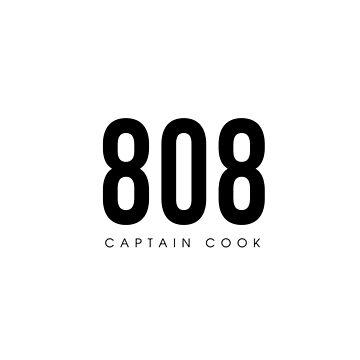 Capitán Cook, HI - 808 Código de área de diseño de CartoCreative