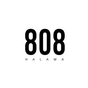 Halawa, HI - 808 Código de área de diseño de CartoCreative